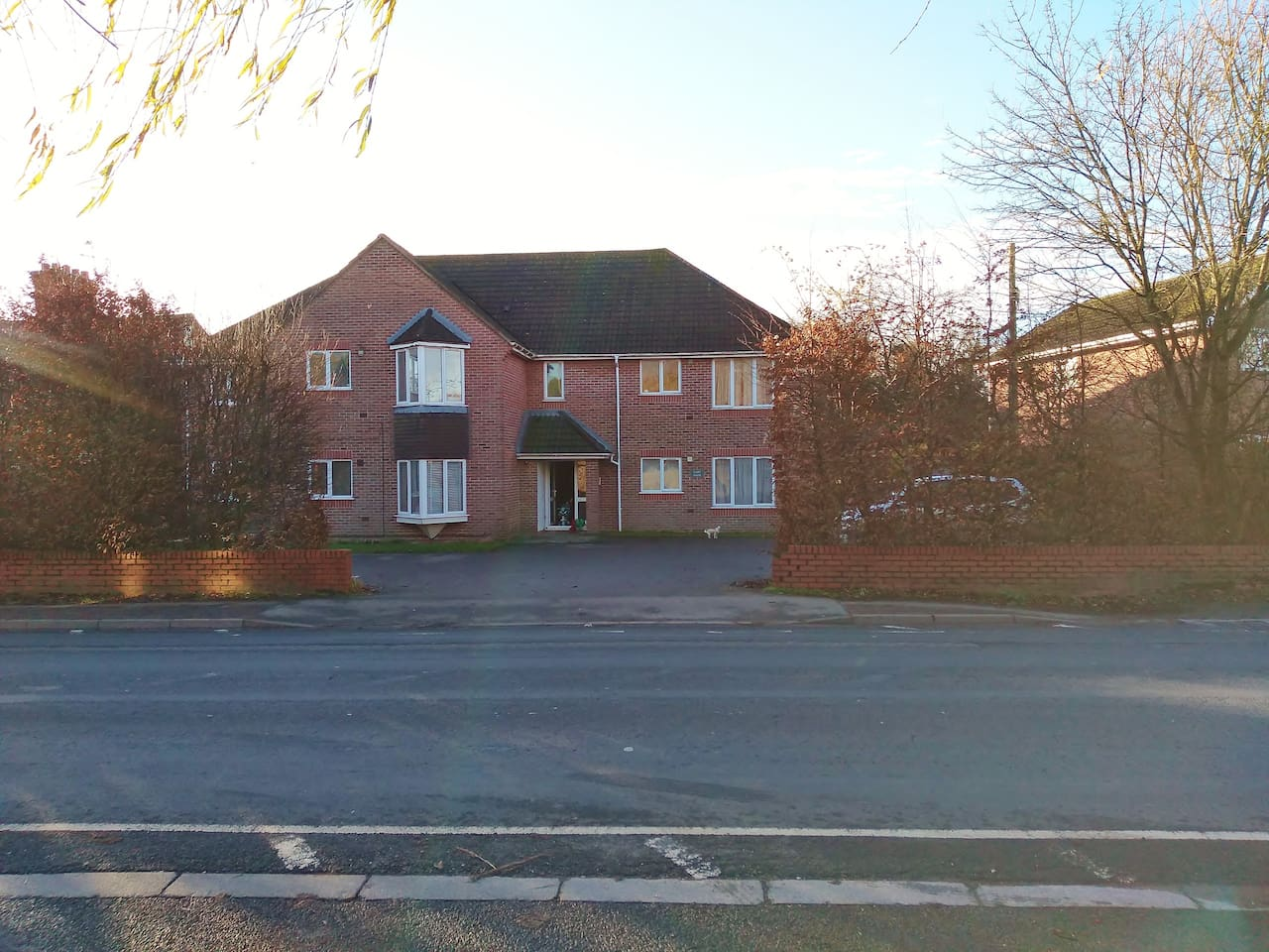 ground floor flat with off road parking.