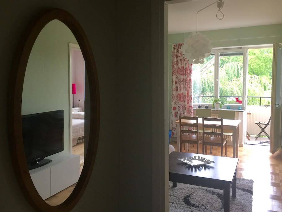 Entry and part of living room