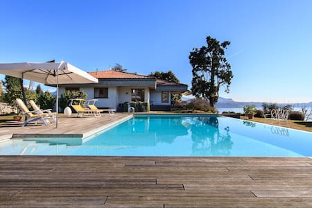 Panoramic villa with pool and views - Pallanza