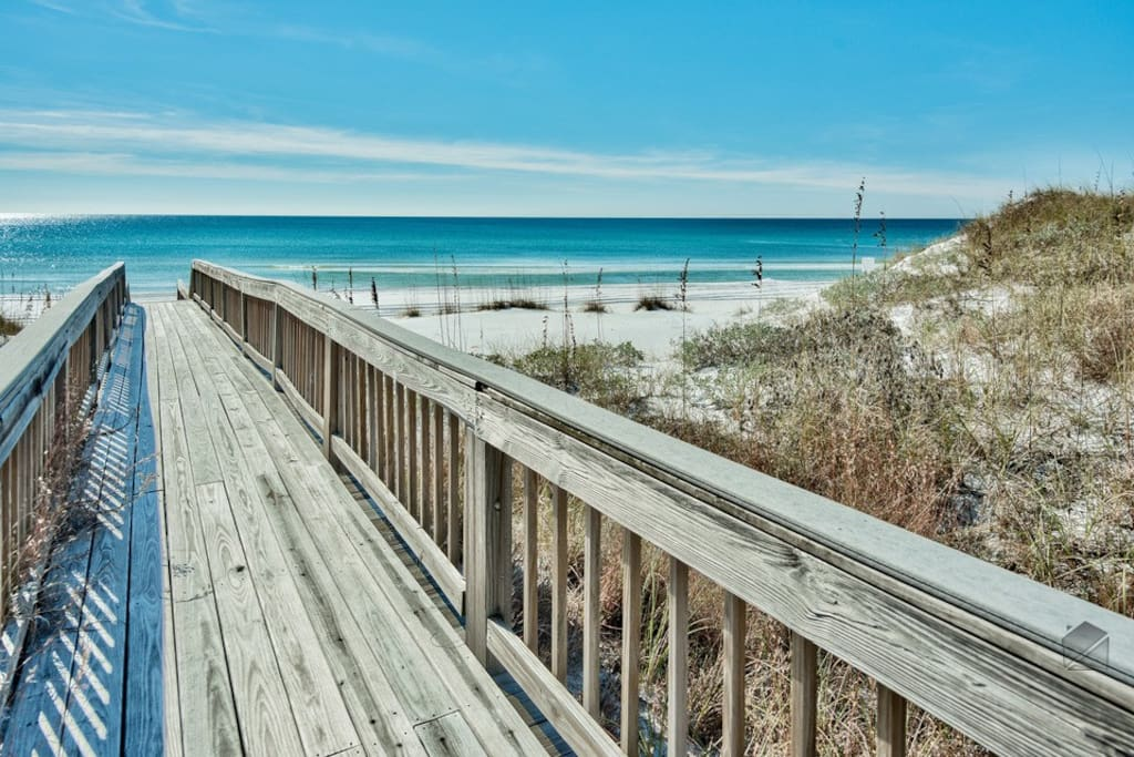 Access to the beach is right out your door, and just seconds away.