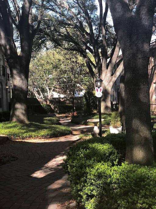 Quiet Courtyard outside your door
