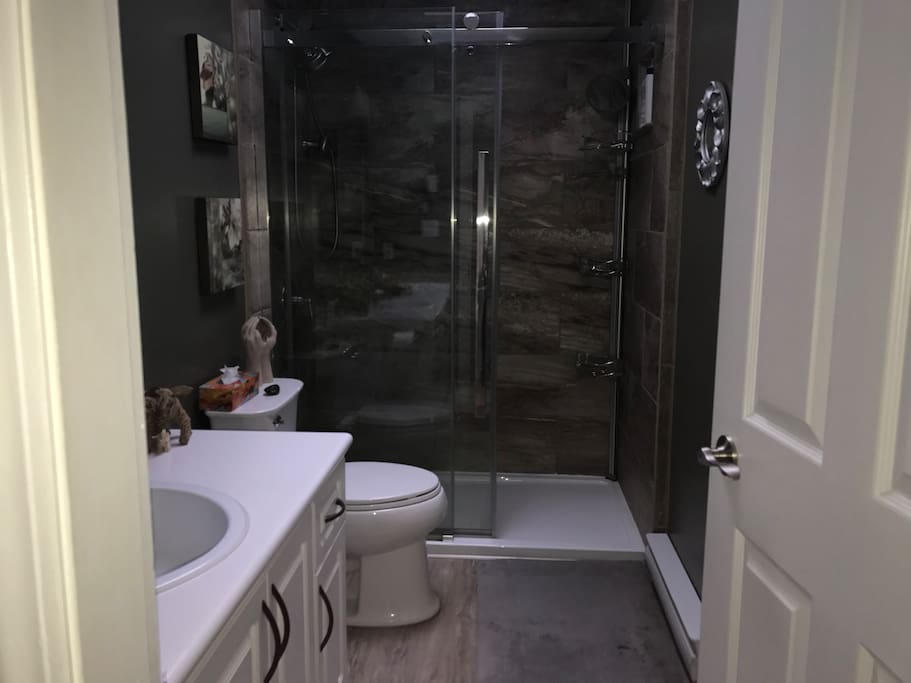 Spacious shower that feels like your having a spa retreat.