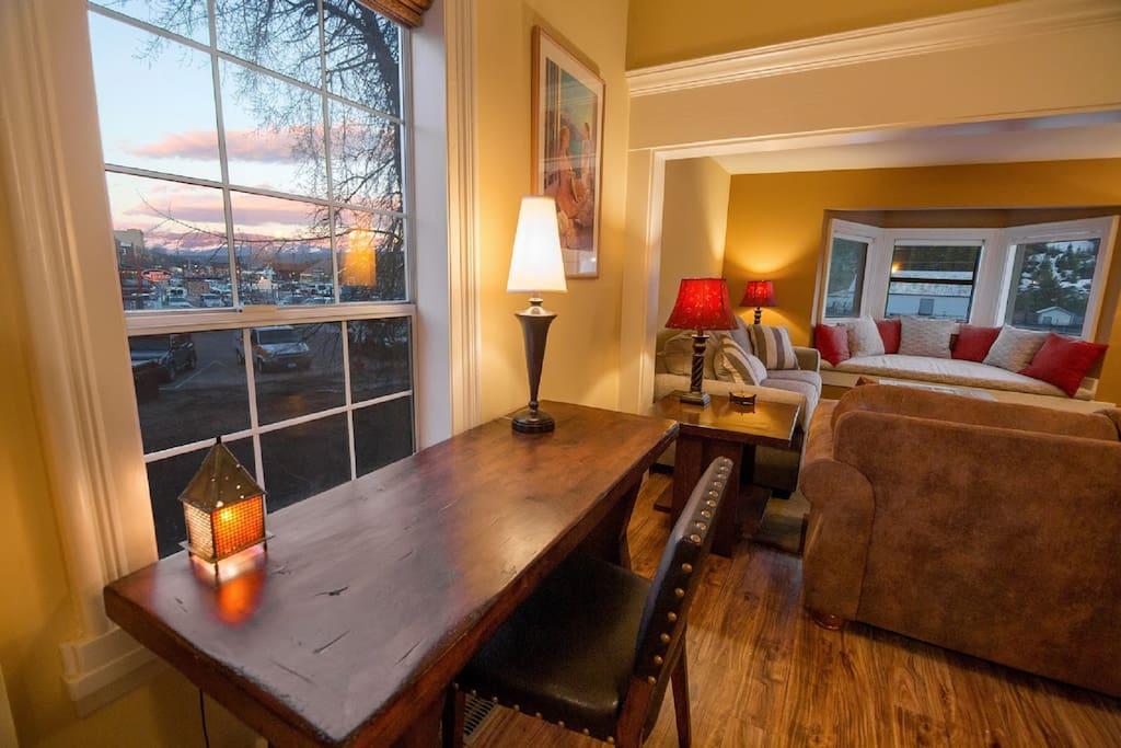 Living Room desk looking east