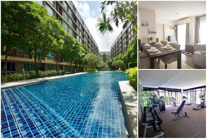 Sandy - Two Bedrooms Condo with Stunning 100m Pool