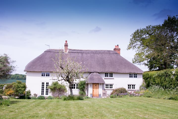 Thatched Cottage near Stonehenge with hot tub use