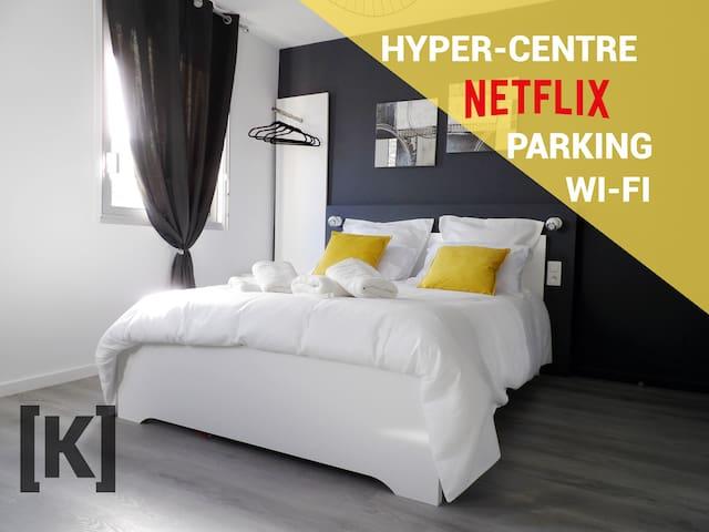 [K] Klass'Appart Centre - Wifi, Netflix & Parking