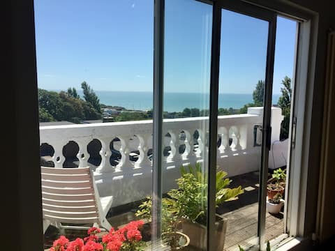 Two bed Penthouse maisonette flat with sea views