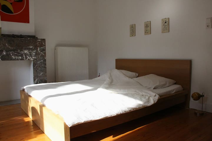Spacious room with private kitchen and 2 bicycles - Antwerpen - Rumah