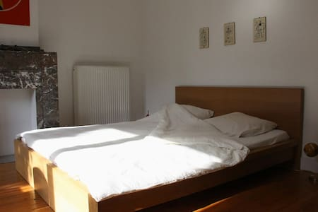Spacious room with private kitchen and 2 bicycles - Antwerpen - Ház