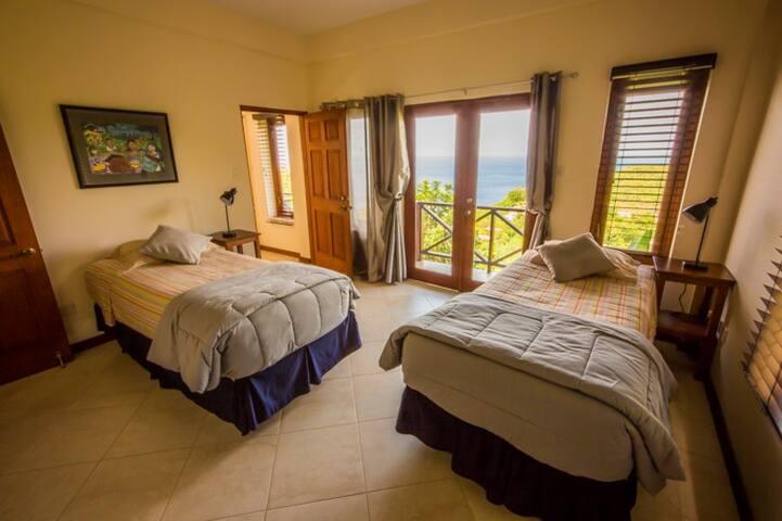 bedroom #3 with connecting door to bedroom #2