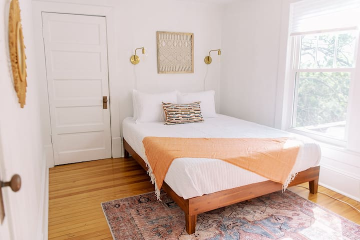Bedroom #3 also has a queen sized bed. All bedrooms have cordless shades you can adjust to your liking.