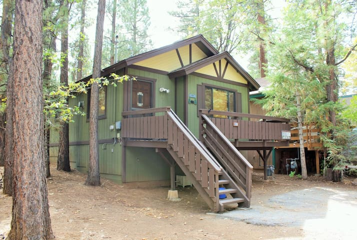Tiny mighty spa pet friendly cabins for rent in big for Big bear cabins pet friendly