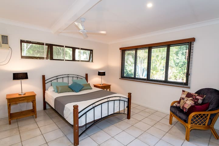 Main bedroom has TV, ensuite and enormous robe