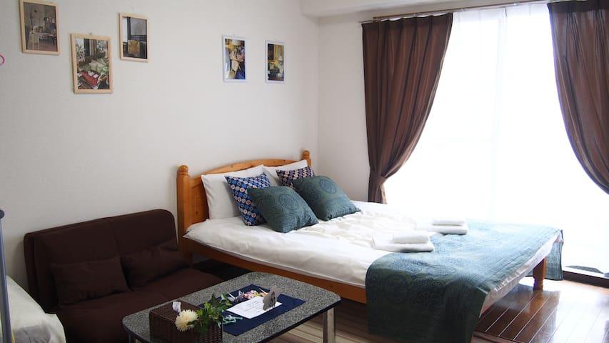 3minTenjin RelaxRoom for Trip&Business#6/fWiFi&kid - Fukuoka-shi - Apartament