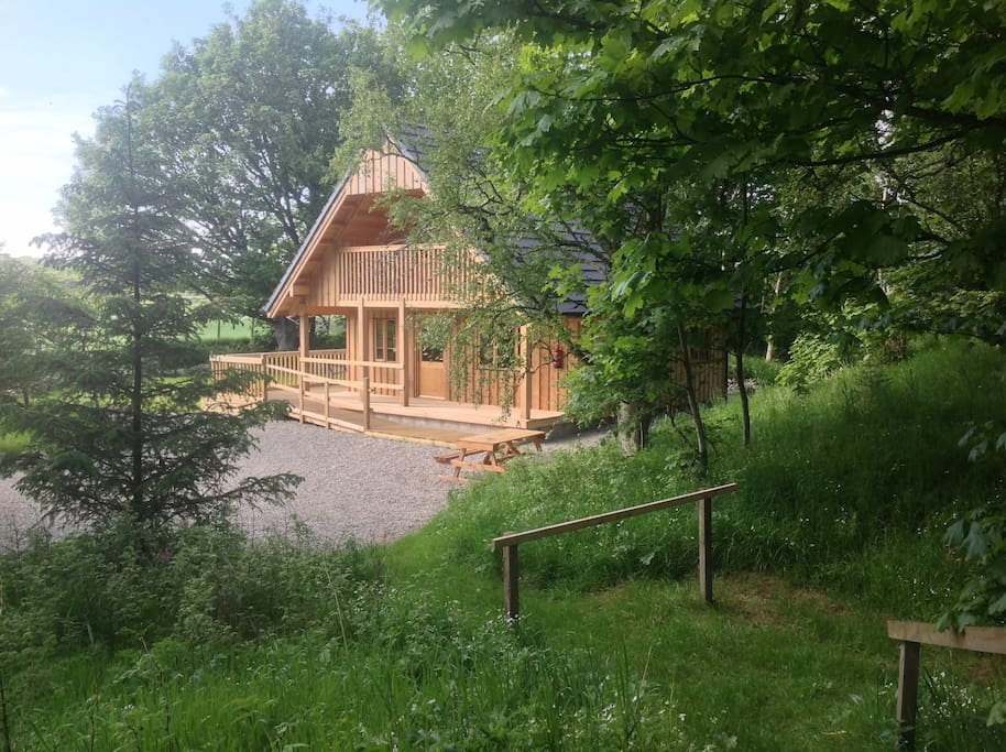 Deveron Lodge in our wood close to the river Deveron.