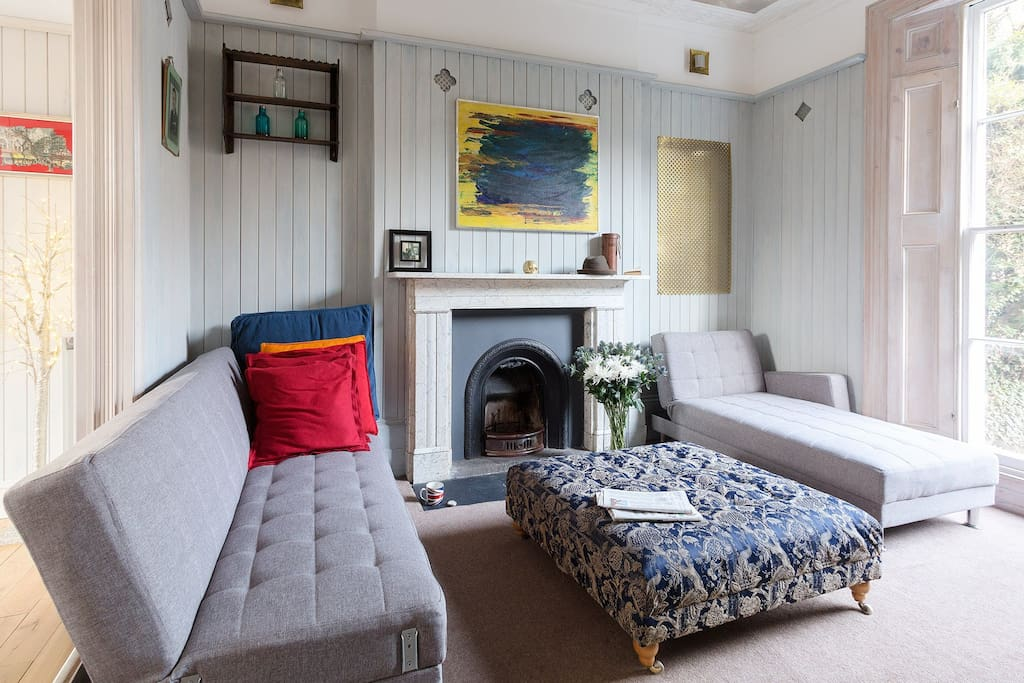 The property is full of original features such as panelling & fireplaces