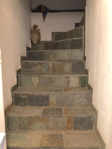 Inside stairs