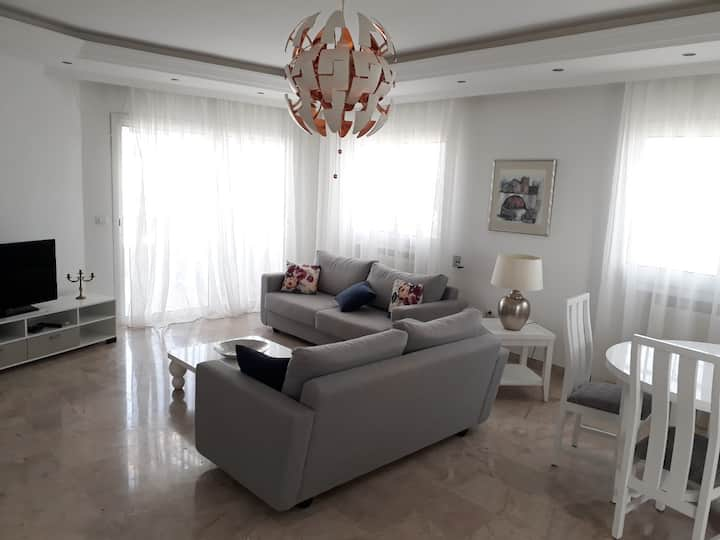 A lovely and high standard apartment in La Marsa.