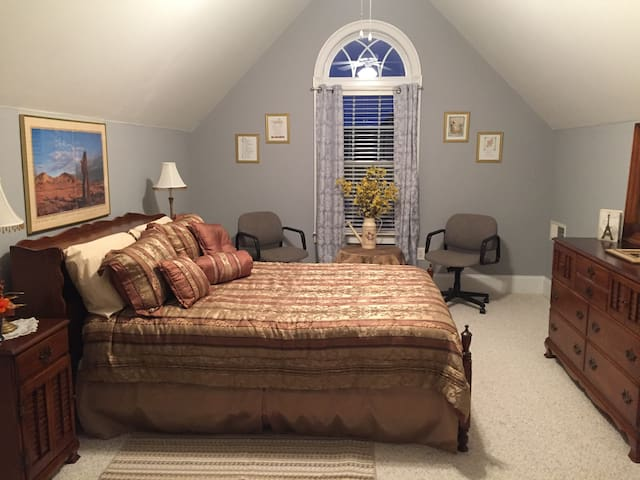 Private guest room with in-suite bathroom - Lawrenceville