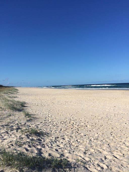Walk from the property onto the beach via the access track
