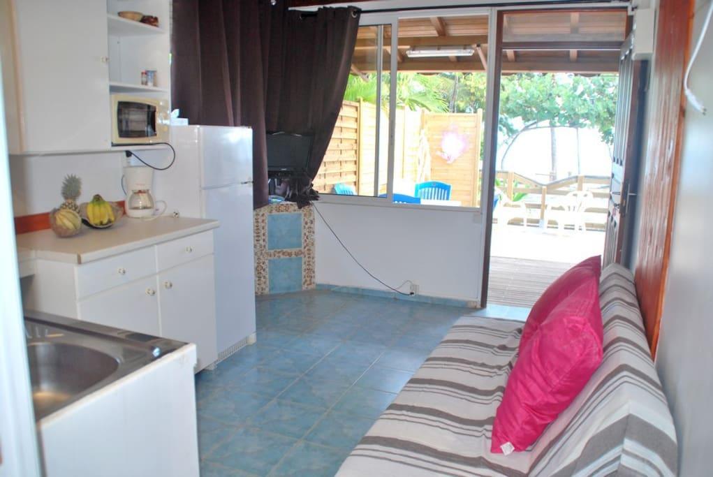 la cuisine-salon