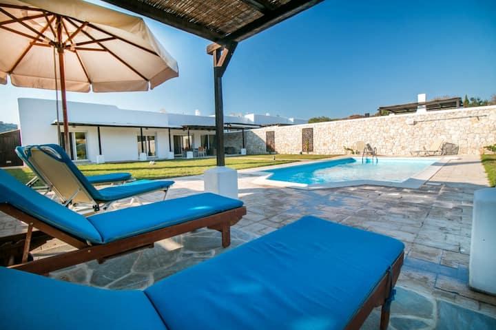 pool villa near Faliraki & Anthony Quinn bay
