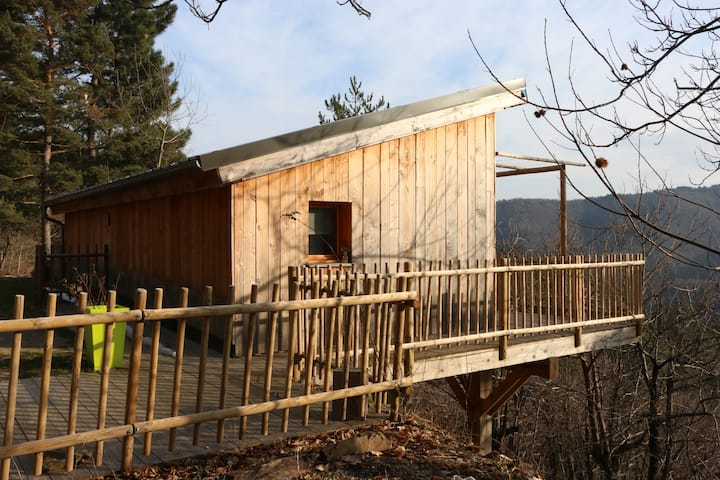"""Wooden cabin in """"les cevennes"""""""