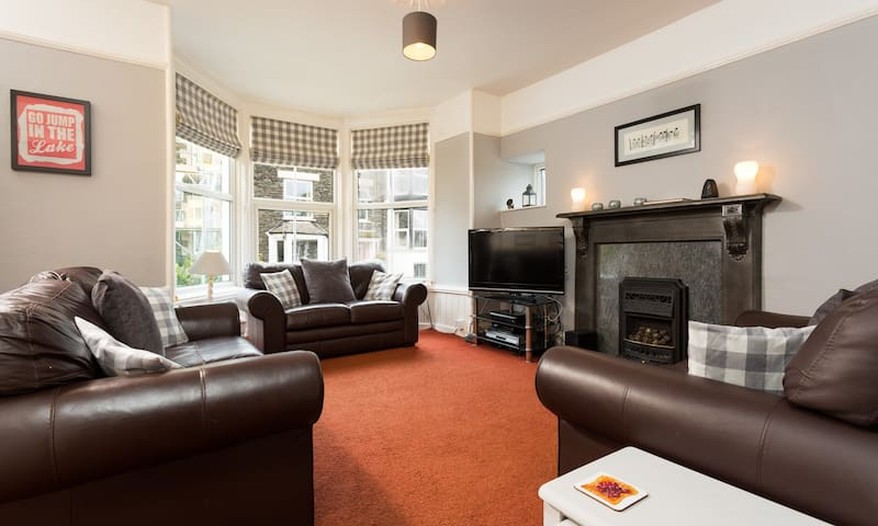 Spacious and comfortable seating area