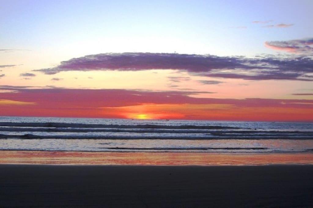 Sunset on Olon beach
