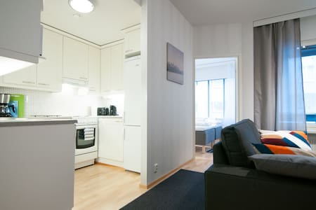City apartment with bedroom, terrace and sauna - Kuopio - Apartment