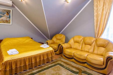 Improved with a double bed and a sofa. Abuzerye  will be glad to meet guests in the bosom of the picturesque Belarusian nature.