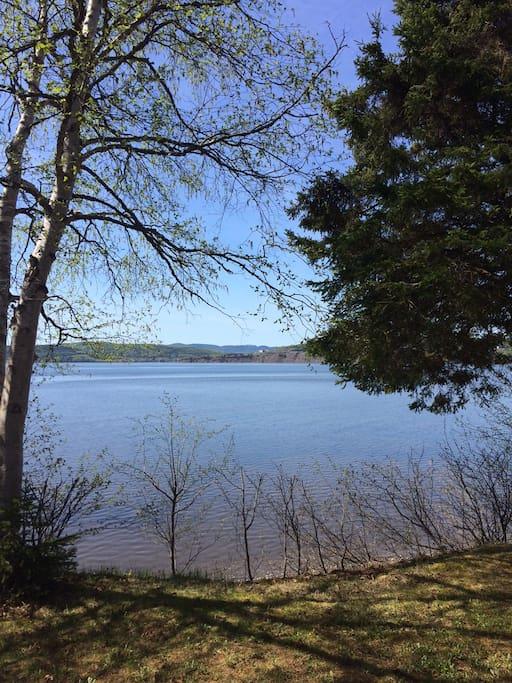 la vue sur la baie de Gaspé