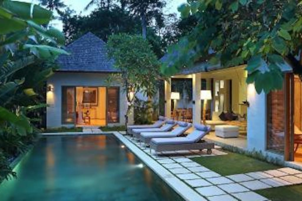 Villa and pool view
