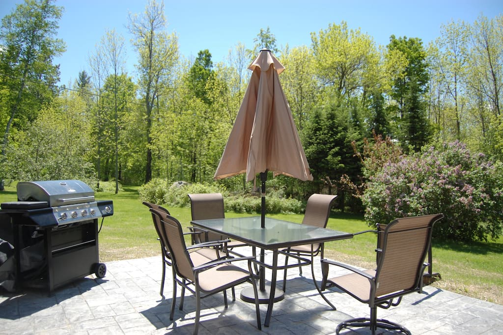 Patio seating for 6 with gas grill