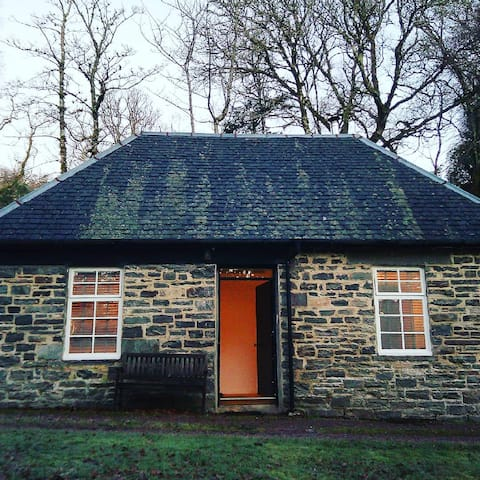 One bed hideaway in 19 acres, with wood burner