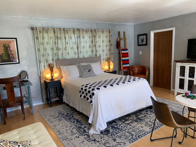 Suite space, A full large master bedroom, with large closet, washer and dryer, full double bathroom with jetted bathtub/