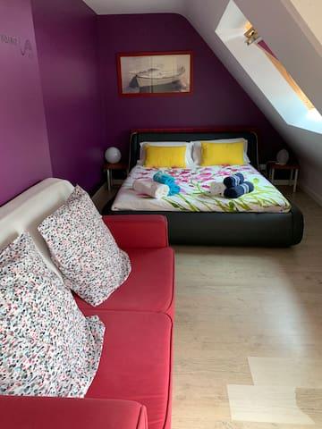 Seconde chambre avec lit de 160x200