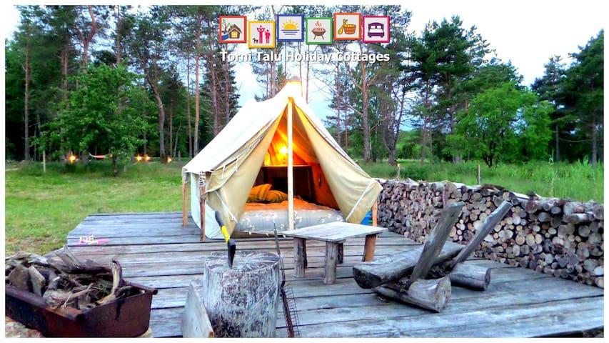 Seaside heated tent and sun terrace torni talu tendas for Heated gazebo