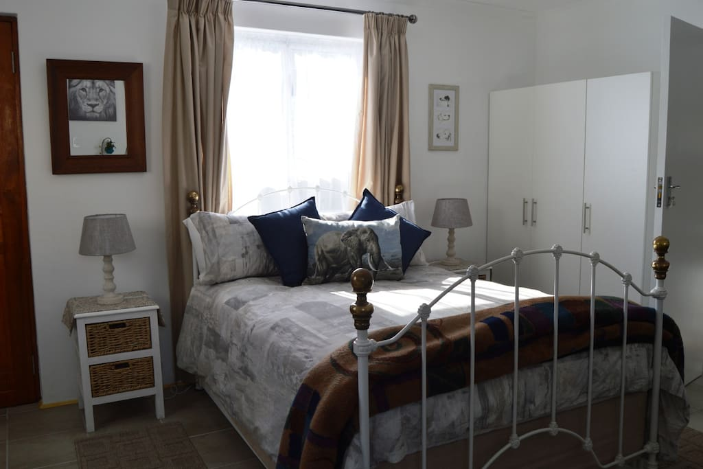 Comfy double bed in Canary Corner Cottage