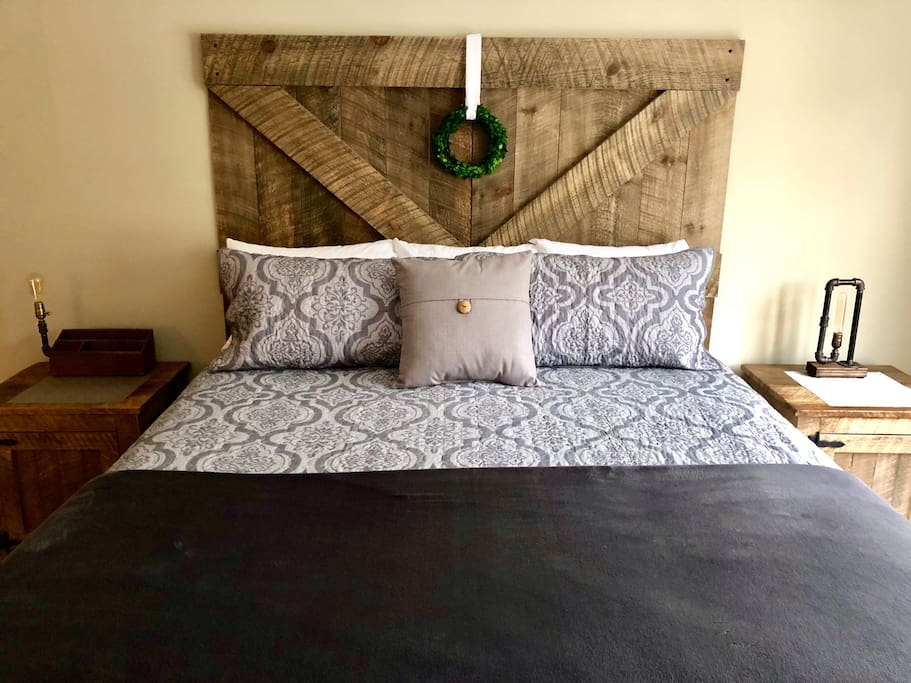 Master Bedroom - Brand New KING (4/2018) Simmons BeautyRest Mattress (covered with professional grade Protect-A-Bed brand Allergen & Bug Proof protectors).