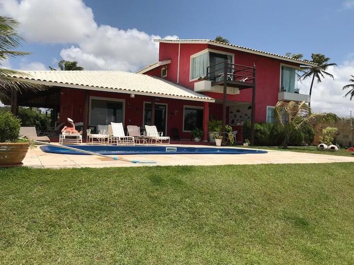 Linda casa de praia pé na areia Nordeste, Muriú/RN