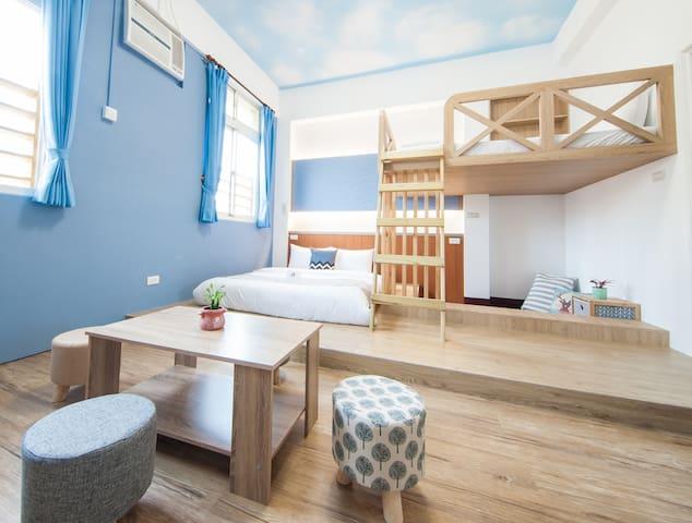 馬公市中心地點最棒的四人套房  「起點旅行 D.C. Inn」