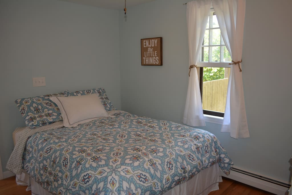 Master bedroom fits a queen-sized bed comfortably!