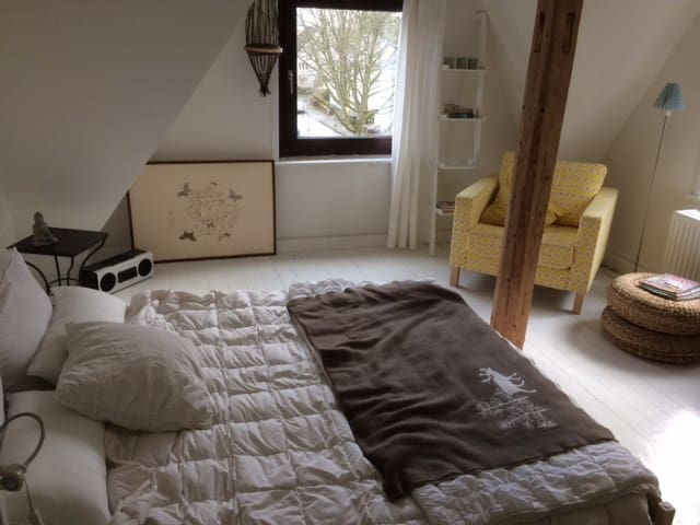 Cosy 2-bedroom attic flat, calm, close to city - Wiesbaden