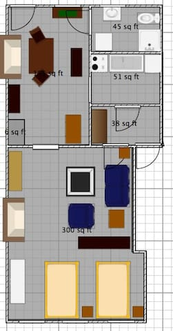 Here's the layout of the apartment.