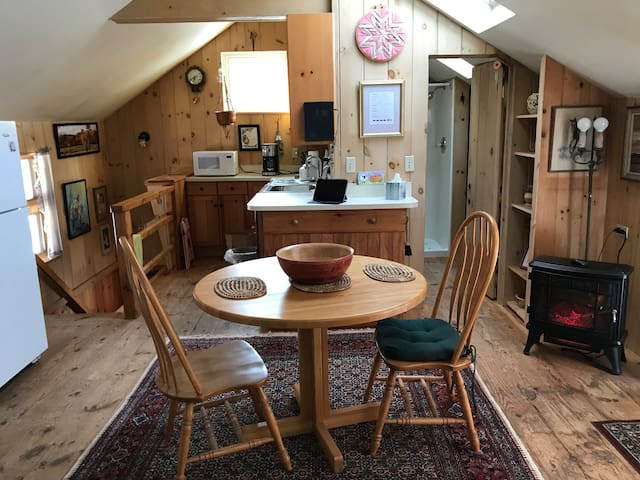 Quiet country apartment in farmland setting.