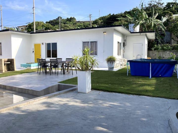 *非接触型宿泊=大人気 外人住宅1棟&広々お庭でBBQ!ライカム・観光地までアクセス・買い物便利!