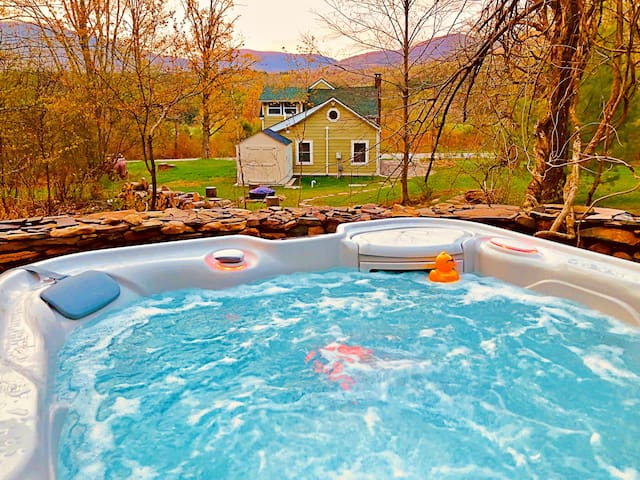 Romantic Catskills Cottage w/ Spa Hot Tub/Views!
