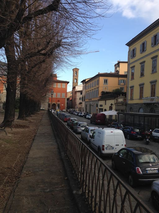This is the street, in San Niccolò quarter. .