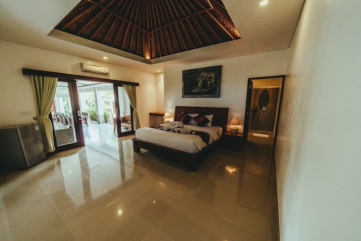 Spacious master bedroom with king bed #5